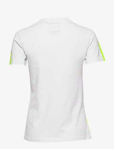 Superdry Swiss Logo Sport Entry Tee- T-shirts & Tops Optic
