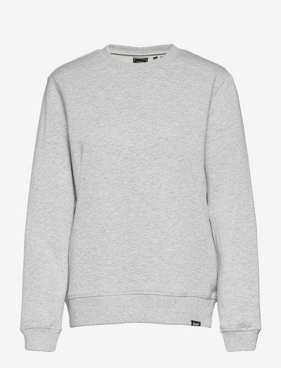VINTAGE LOGO EMB CREW - sweatshirts - glacier grey marl