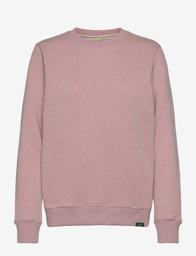 VINTAGE LOGO EMB CREW - sweatshirts - soft pink marl