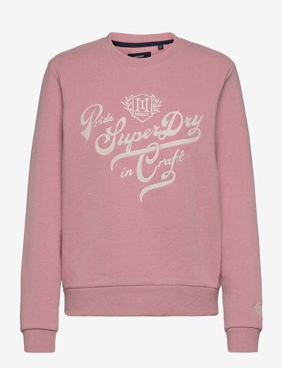 PRIDE IN CRAFT CREW - sweatshirts - soft pink
