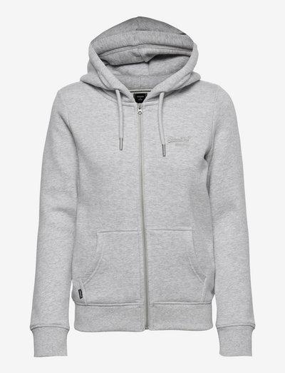 VINTAGE LOGO EMB ZIPHOOD - hoodies - glacier grey marl