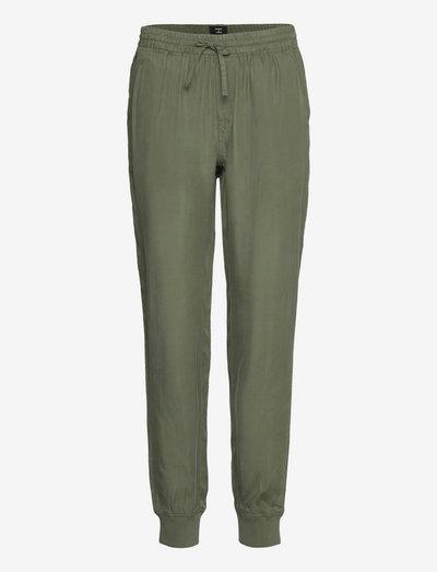 STUDIOS CUPRO WOVEN JOGGER - sweatpants - thyme