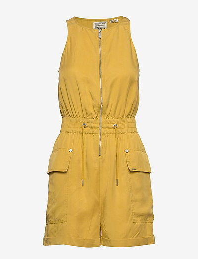 NEVADA HALTER PLAYSUIT - clothing - oil yellow