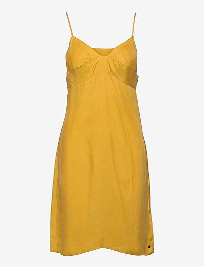 CUPRO CAMI DRESS - midi dresses - sulphur yellow