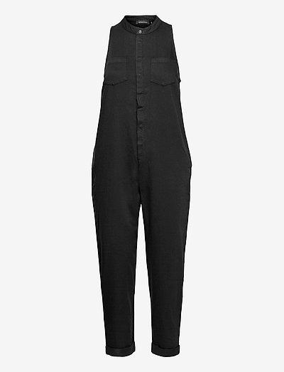 SLEEVELESS JUMPSUIT - clothing - black wash