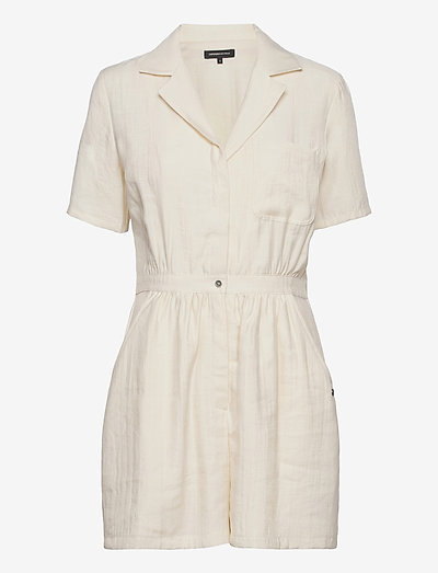 WIDE LEG PLAYSUIT - clothing - oyster