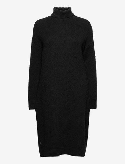 STUDIOS FUNNEL NECK KNIT DRESS - gebreide jurken - black