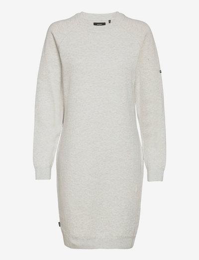 STUDIOS ESSENTIAL KNIT DRESS - alledaagse jurken - pale grey marl