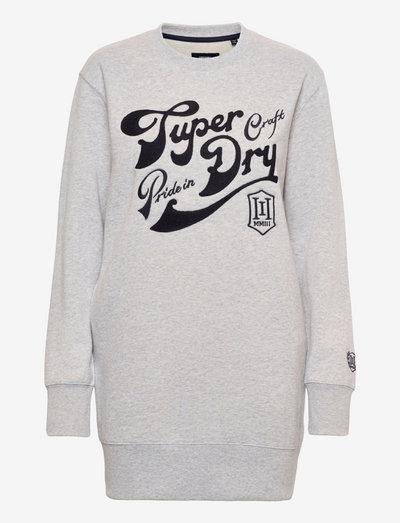 PRIDE IN CRAFT CREW DRESS - sweatshirts - glacier grey marl