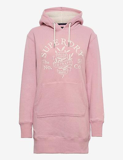 PRIDE IN CRAFT HOOD DRESS - t-shirtkjoler - soft pink