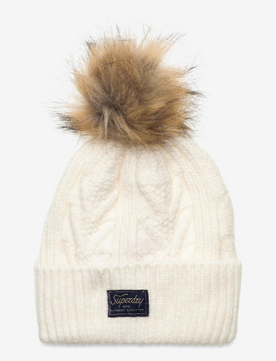 CABLE LUX BEANIE - mössor - winter white