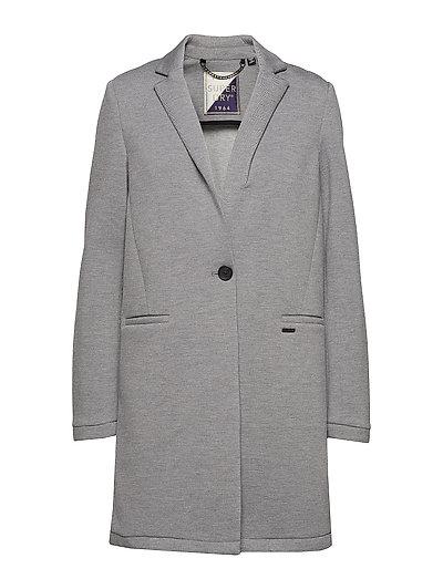 Azure Longline Blazer Dünner Mantel Grau SUPERDRY