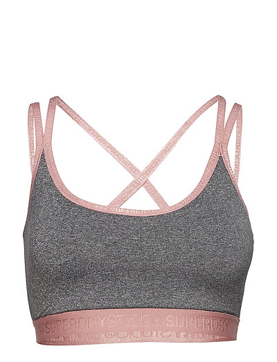 SUPERDRY STUDIO CROSS BACK BRA - SPECKLE CHARCOAL