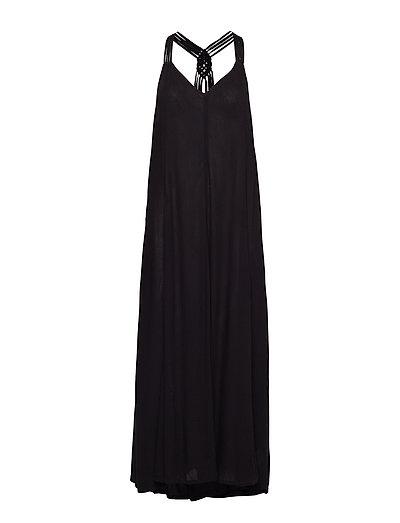 Carissa Macrame Maxi Dress Maxikleid Partykleid Schwarz SUPERDRY
