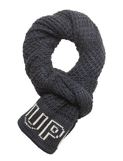 SUPERDRY WAFFLE SCARF - NAVY