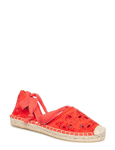 LOLA LACE UP ESPADRILLE - URBAN RED