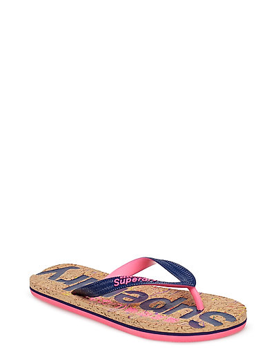CORK FLIP FLOP - MULTI FLECK CORK/FRENCH NAVY