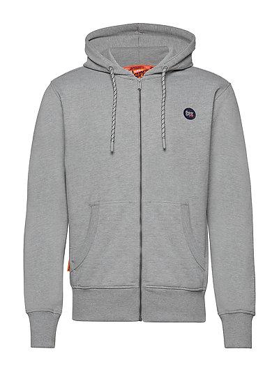 Collective Zip Hood Hoodie Pullover Grau SUPERDRY