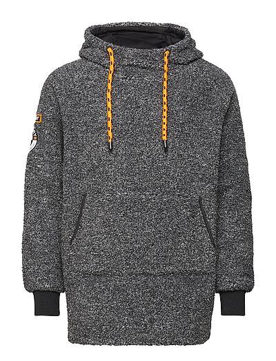 Mountain Sherpa Overhead Hoodie Pullover Grau SUPERDRY