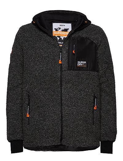 Mountain Sherpa Ziphood Hoodie Pullover Grau SUPERDRY