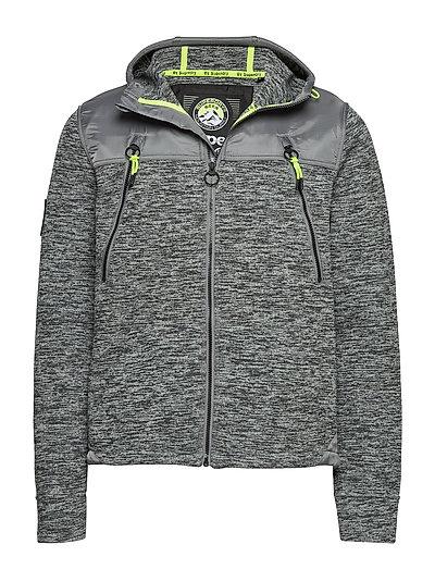Mountain Ziphood Hoodie Pullover Grau SUPERDRY