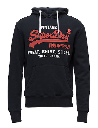 Sweat Shirt Shop Duo Hood Hoodie Pullover Blau SUPERDRY