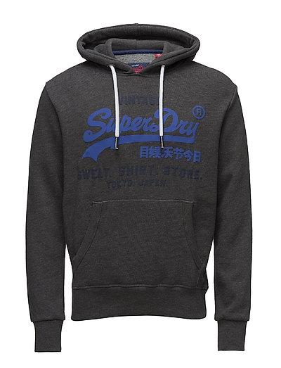Sweat Shirt Shop Duo Hood Hoodie Pullover Blau SUPERDRY