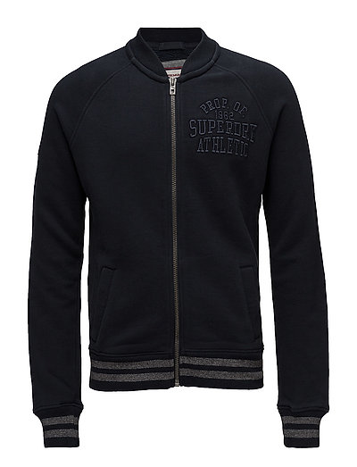 APPLIQUE SWEAT BOMBER - ECLIPSE NAVY