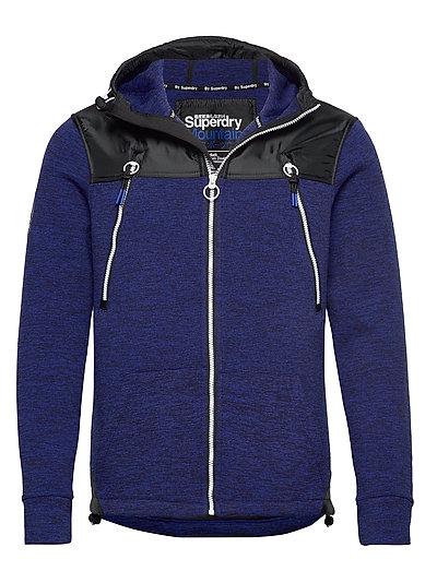 Storm Mountain Double Ziphood Hoodie Pullover Blau SUPERDRY