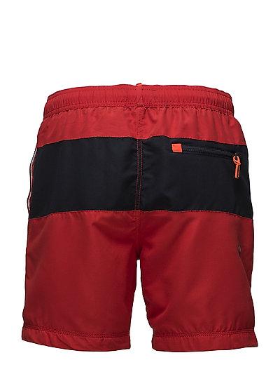 WATERPOLO BANNER SWIM SHORT - YACHT CLUB RED/DARKEST NAVY