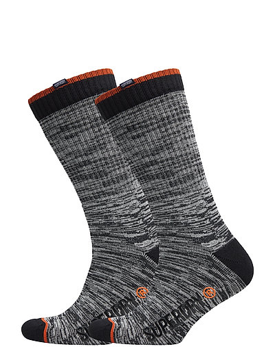 JET STREAM SOCK DOUBLE PACK - NAVY SLUB/MARINE BLUE GRIT