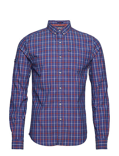 ULT UNIVSTY OXFRD BD L/S SHIRT - OIL BLUE CHECK