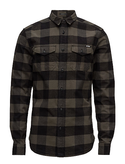 ROOKIE PLAID L/S SHIRT - OLIVE PLAID