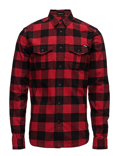 ROOKIE PLAID L/S SHIRT - RED PLAID
