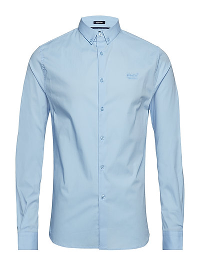 TAILORED SLIM FIT L/S SHIRT - SKY