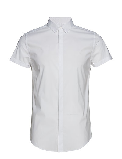 PREMIUM COTTON DRESS S/S SHIRT - OPTIC