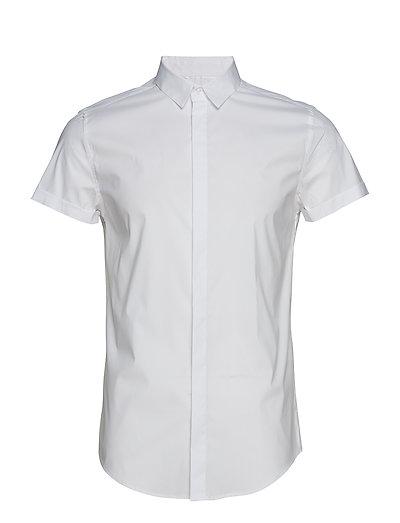 Premium Cotton Dress S/S Shirt Kurzärmliges Hemd Weiß SUPERDRY