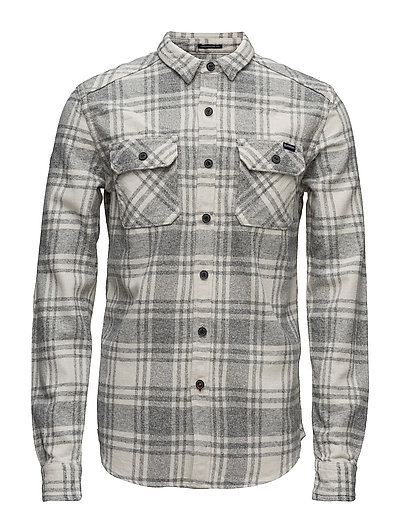 MILLED FLANNEL L/S SHIRT - LAVENHAM GRIT CHECK