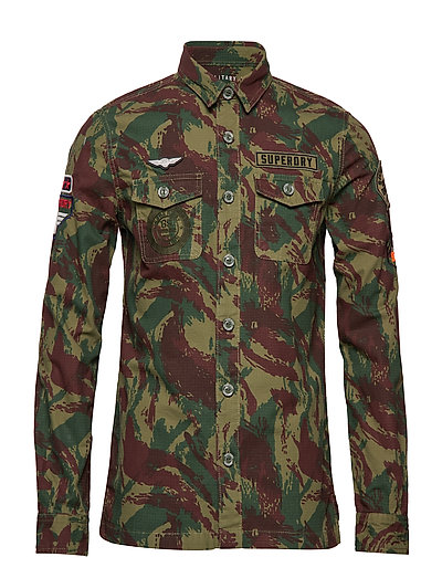 SUPERDRY Premium Rookie Shirt Hemd Casual Grün SUPERDRY