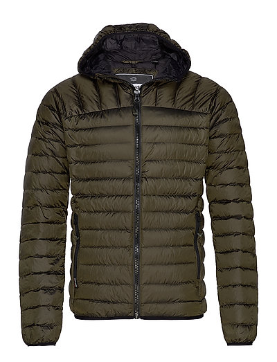 SUPERDRY Core Down Hooded Jacket Gefütterte Jacke Grün SUPERDRY