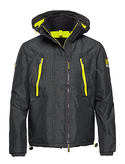 SUPERDRY Hooded Polar Windattacker Dünne Jacke Schwarz SUPERDRY