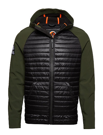 SUPERDRY Mountaineer Softshell Hybrid Steppjacke Grün SUPERDRY