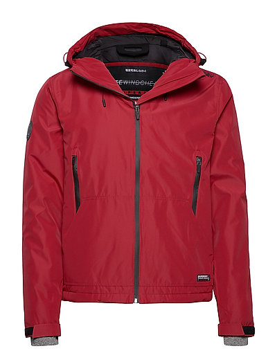 SUPERDRY Padded Elite Windcheater Gefütterte Jacke Rot SUPERDRY