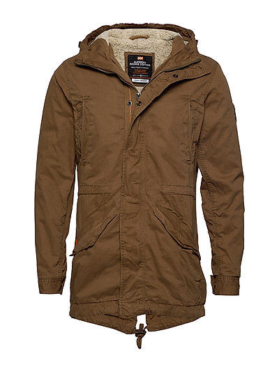 SUPERDRY New Military Parka Parka Jacke Braun SUPERDRY