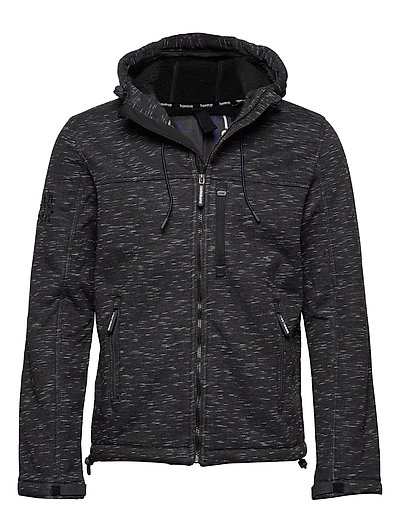 SUPERDRY Hooded Winter Windtrekker Dünne Jacke Schwarz SUPERDRY