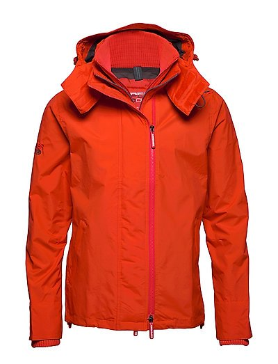 SUPERDRY Tech Hood Pop Zip Windcheater Dünne Jacke Orange SUPERDRY