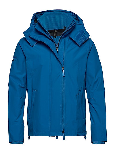 SUPERDRY Tech Hood Pop Zip Windcheater Dünne Jacke Blau SUPERDRY