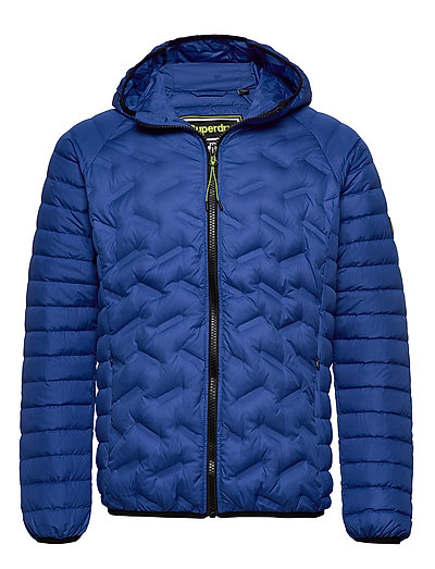 SUPERDRY Down Radar Mix Quilt Jacket Steppjacke Blau SUPERDRY