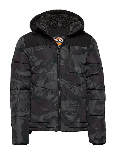 SUPERDRY Sd Expedition Coat Gefütterte Jacke Schwarz SUPERDRY