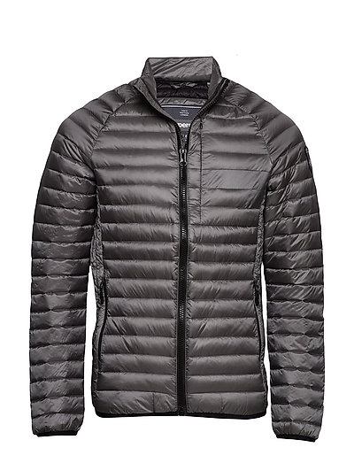 Core Down Jacket Gefütterte Jacke Grau SUPERDRY